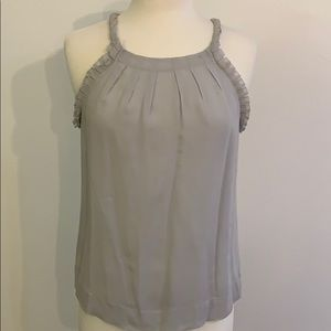 Banana Republic pretty gray silk sleeveless blouse
